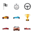 Championship icons set cartoon style vector image