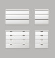 set of drawers vector image