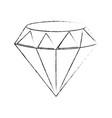 beautiful diamond isolated vector image
