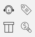 ecommerce icons set collection of employee vector image