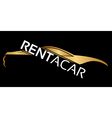Rent a car logo vector image vector image
