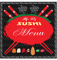 background with seafood for sushi menu vector image