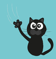 cat claws scratch a background vector image