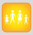 human silhouette design vector image