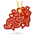 Fish and hearts vector image