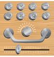 metal design elements vector image