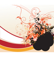 floral graphic border vector image