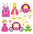 Princess set vector image vector image