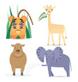 cute africa animals vector image