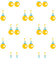 pair of earrings with pearls pattern seamless vector image