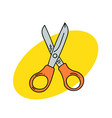 shears vector image