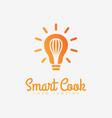 smart cook logo vector image