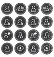 User retro labels set - businessman worker vector image