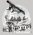 winter sport snowboard vector image