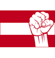 flag of Austria with fist vector image vector image