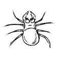 Poisonous spider isolated on white vector image