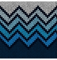Seamless Knitted Stylized Geometric Pattern with vector image vector image