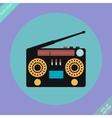 Retro Stereo Radio Cassette Recorder vector image