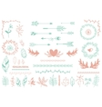 Ethnic tribal boho elements Arrows and feathers vector image vector image