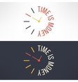 time is money concept design Clock with vector image