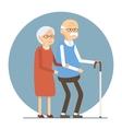 Senior Couple Walking vector image