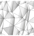 Abstract geometric background with monochrome vector image