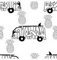 aloha hawaii seamless pattern surf bus and vector image