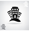 Black stylized house vector image