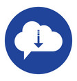 cloud download icon computing concept vector image