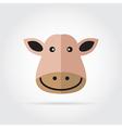 Cow head icon vector image