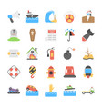 disasters and weather conditions flat icons pack vector image