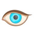 Eye icon cartoon style vector image