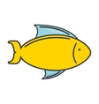 fish sea colors icon vector image