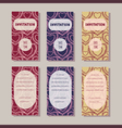 invitation cards templates vintage collection vector image