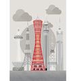 Japan Kobe Port Tower vector image