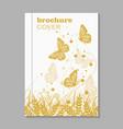 Natural brochure cover design vector image