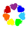 rainbow celebration dance led toothy hunger vector image