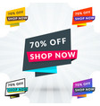 set of discount and promotional sale origami vector image