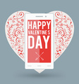 Smartphone with Happy Valentines day and big heart vector image