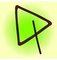 Triangle Pop art vector image