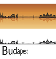 Budapest skyline in orange background vector image