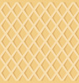 seamless pattern with waffel texture vector image