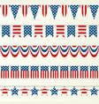 usa flag ribbons vector image