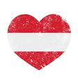 Austria heart retro flag vector image vector image