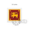 Sri Lanka Flag Postage Stamp vector image