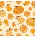 Autumn Pumpkins Harvest Seamless Pattern vector image