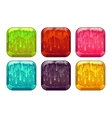 square colorful slime buttons set vector image