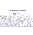 Map Navigation Doodle Concept vector image vector image