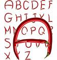 chili alphabet vector image