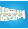 communication text under paper vector image